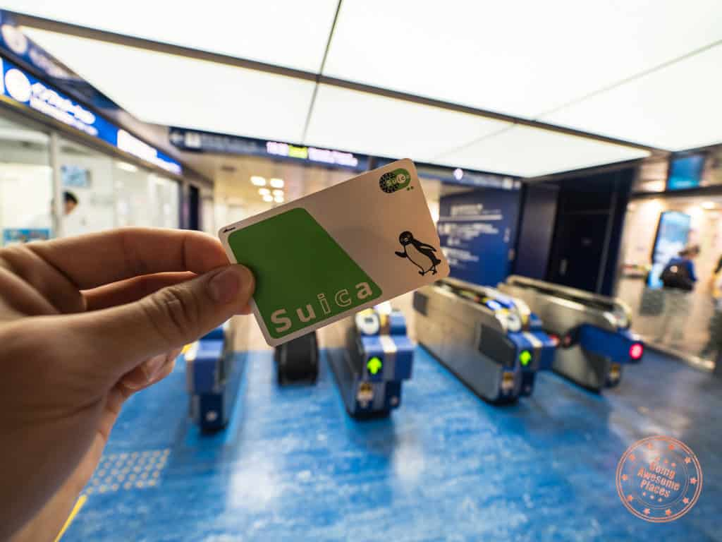 suica ic card how to get around in tokyo