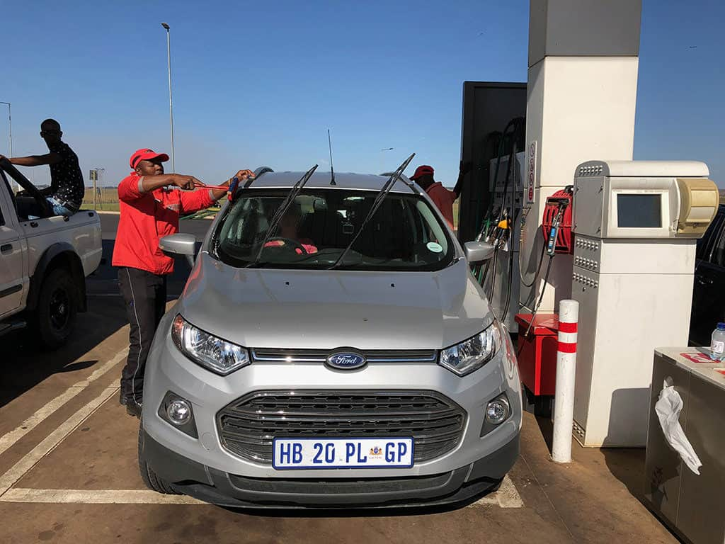 south africa gas station refueling experience do you need to tip