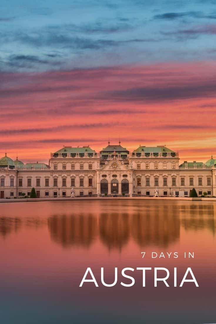 The ultimate Austria 7 day itinerary that covers the very best of Vienna, Salzburg, and Innsbruck. From this travel guide, learn what to see and do, where to eat, and where to stay if you only have a week to work with. #austria #salzburg #vienna #innsbruck #feelaustria #discoveraustria