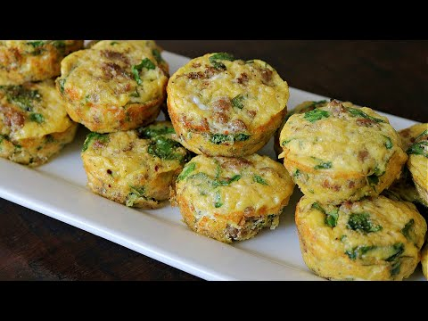 Easy Make-Ahead Sausage and Egg Muffins (Whole30/Healthy)