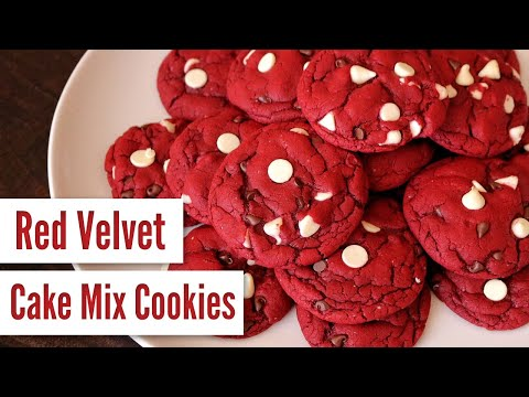 Red Velvet Cake Mix Cookies (Easy, 5 Ingredients)