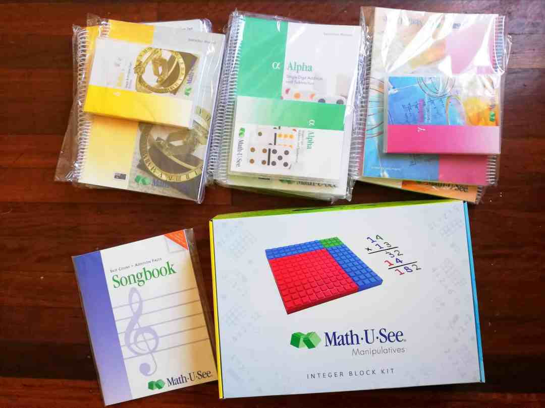 math-u-see resources - look at all this homeschooling maths curriculum!