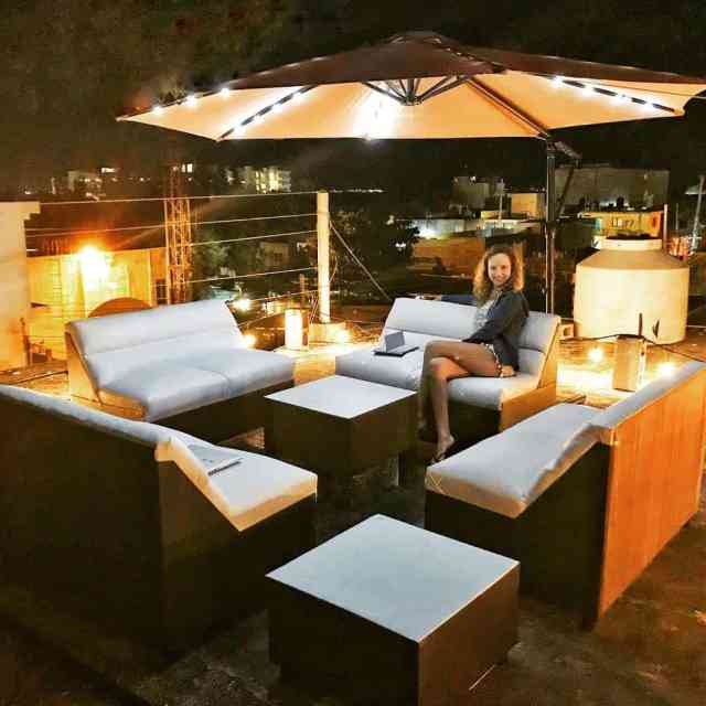Tus showing off our new rooftop sofa set in Mexicohellip