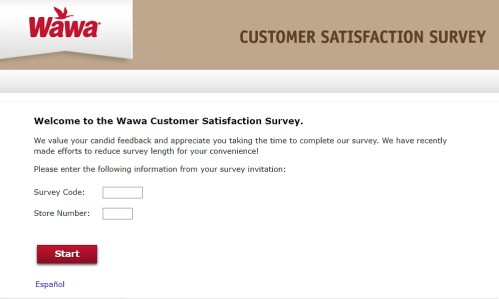 Official homepage of www.mywawavisit.com survey