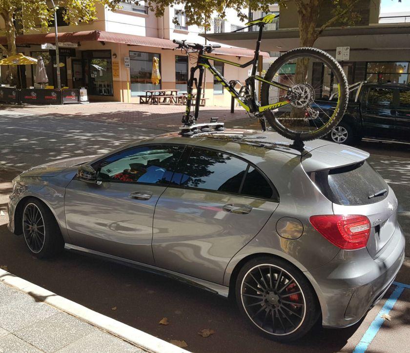 Mercedes A45 AMG Bike Rack - The SeaSucker Mini Bomber