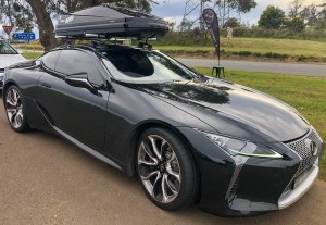 SeaSucker Roof Rack on Lexus LC500