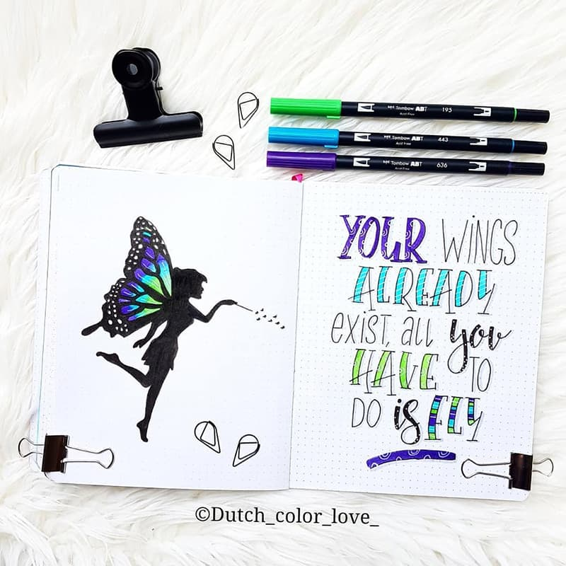 Fairy theme with quote
