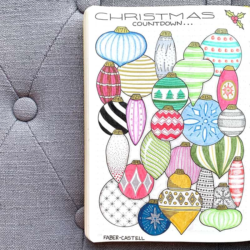 Christmas ornament countdown layout