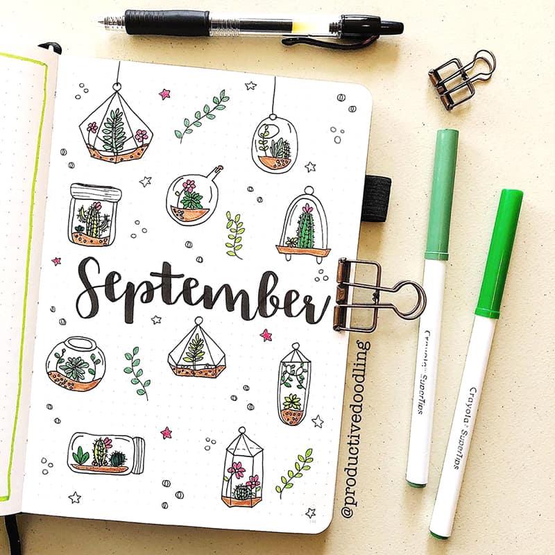 September terrarium cover page