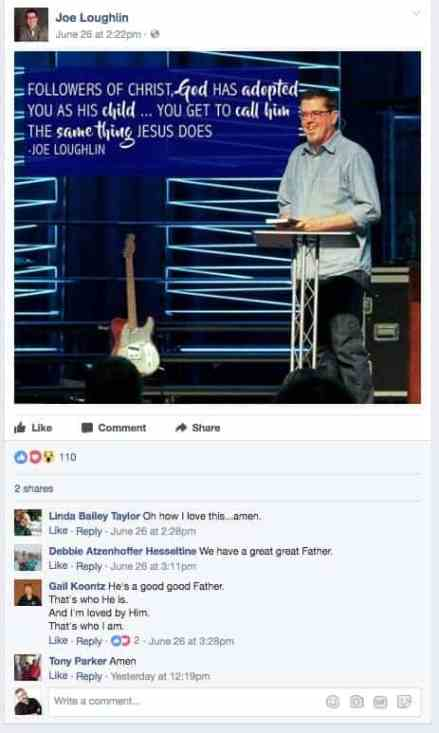 Pastor Joe Loughlin