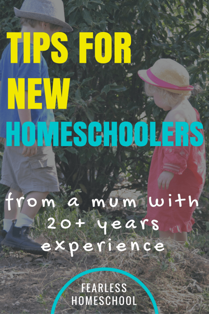 Tips for beginning homeschoolers from an experienced homeschooler-Fearless Homeschool