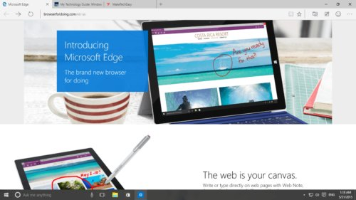 Project Spartan is officially Microsoft Edge
