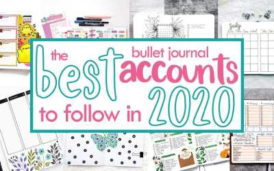 20 Bullet Journal Accounts You Need to Follow in 2020 (And MORE!)