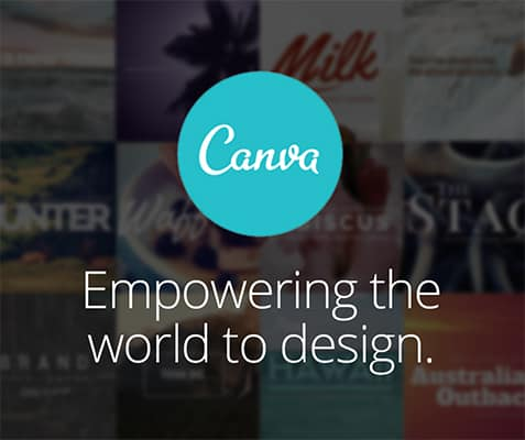 Canva logo with the subtitle empowering the world to design