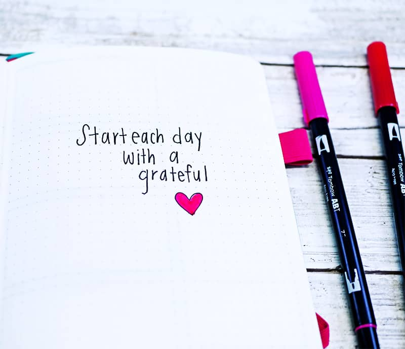 Start each day with a grateful heart quote