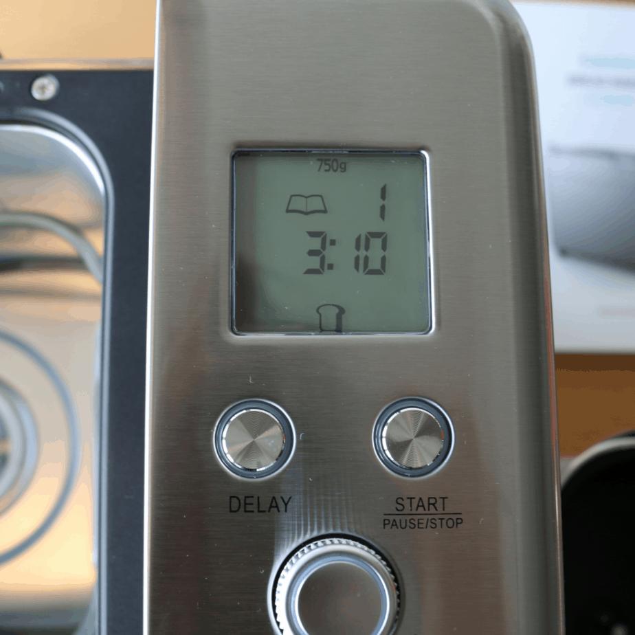 CalmDo Brotbackautomat Display