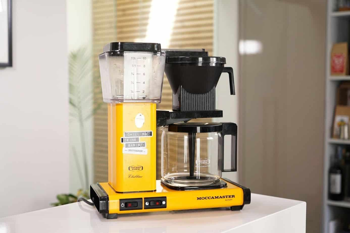MoccaMaster in Gelb Kaffeemaschine