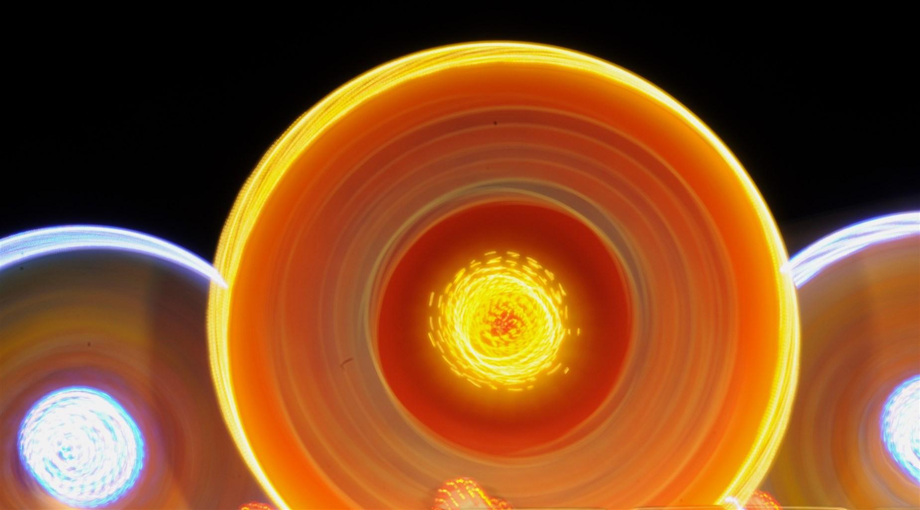 Orangene, leuchtende Kreisform