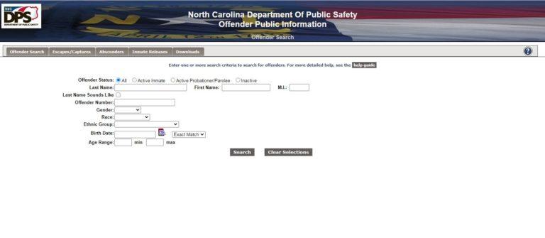 North Carolina DOC Inmate Search 1
