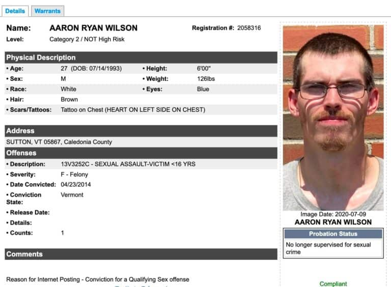 Vermont Sex Offender Search 4