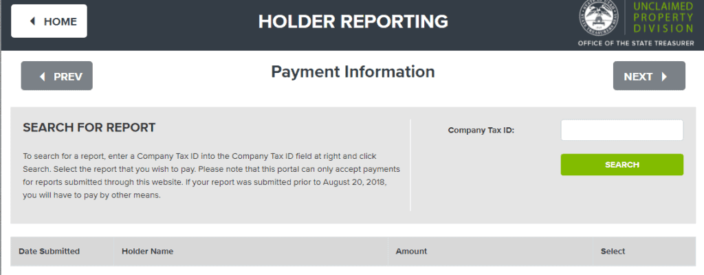 Holder Reporting Step 4