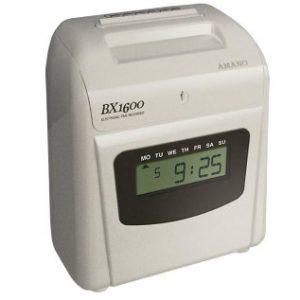 BX1600 AMANO Reloj de Control de Asistencia. BAJO Tráfico. Unicolor