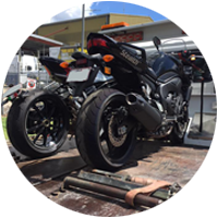 Motorcycle Towing Icon