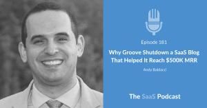 SaaS Blog Andy Baldacci - Groove