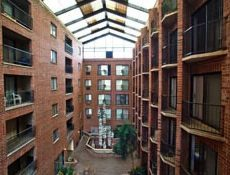 Open air Atrium and interior balconies inside the Allenway