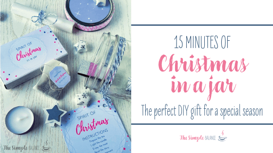 DIY gift idea: 15 Minutes of Christmas in a jar 2