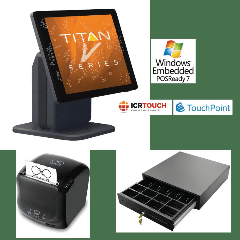SAM4S Titan S265V Touch Screen Till Pos Ready 7 Black Bundle 2
