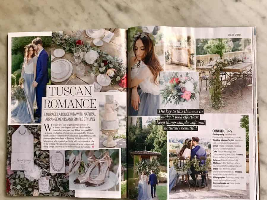 Perfect Wedding, March 2018 wedding cake feature