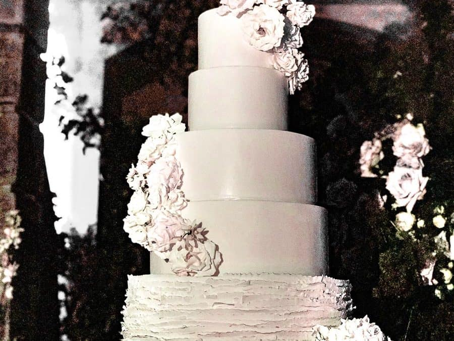 Tuscan Sunset Wedding Cake At Villa Salviatino