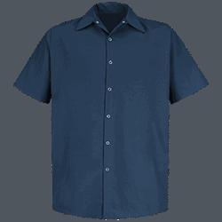 Short Sleeve Specialized Pocketless Work Shirt