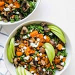 Roasted Butternut Squash and Kale Salad in a Bowl