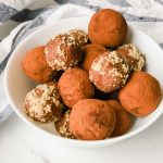 Banana Walnut Chocolate Energy Balls in a bowl