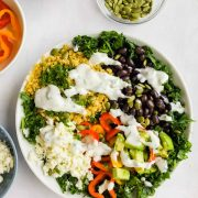 Quinoa Black Bean Avocado Salad in bowl