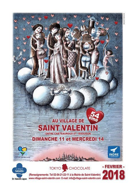 Saint Valentine poster the 54th as of 2018