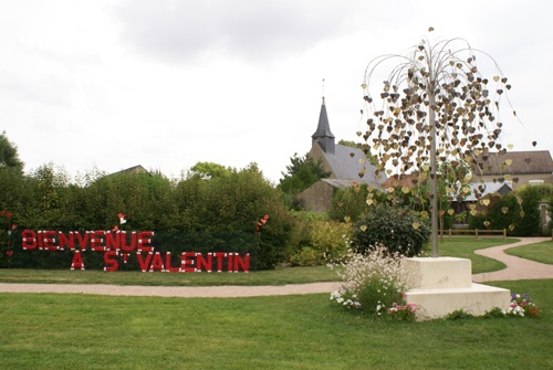 Welcome to the village of Saint-Valentin France