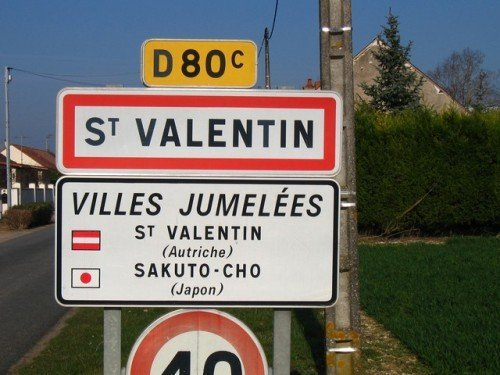 Village of Saint-Valentin is sister cities with 2 Japanese cities and one Austrian city