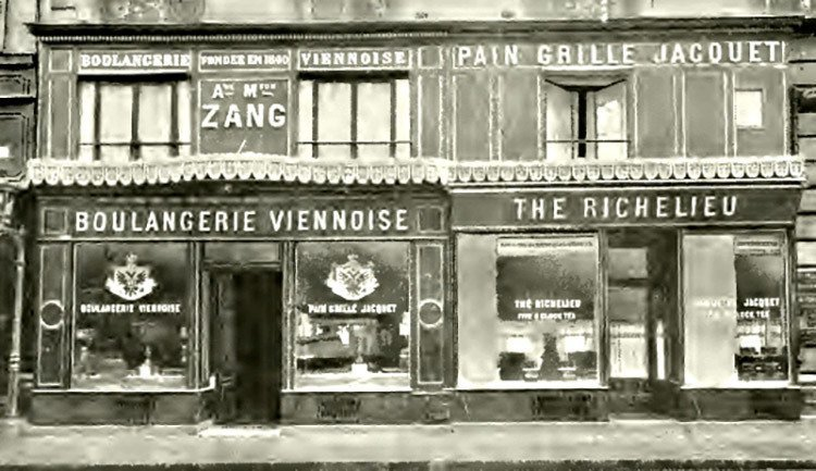 Mr Zang from Vienna is the man who brought the croissant to Paris and France. This is his bakery in Paris