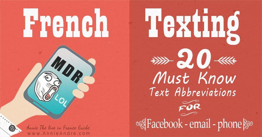Feature photo for French texting for facebook, phone and email