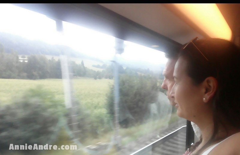 If we wanted, we could get up and enjoy the views from the big windows, walk around and even get a bite to eat on the food wagon
