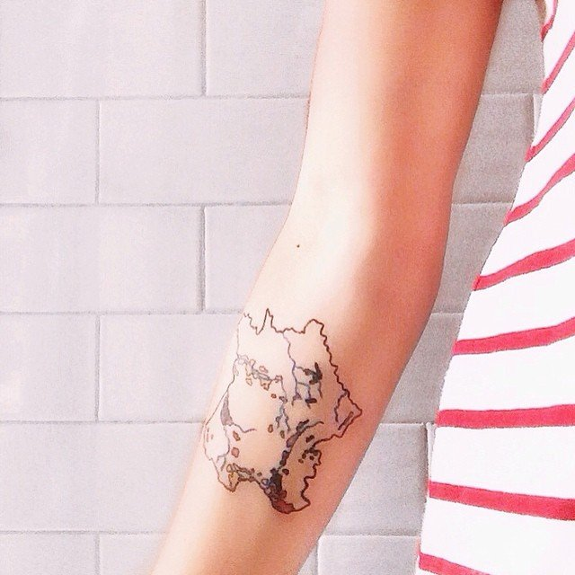 French map tattoo