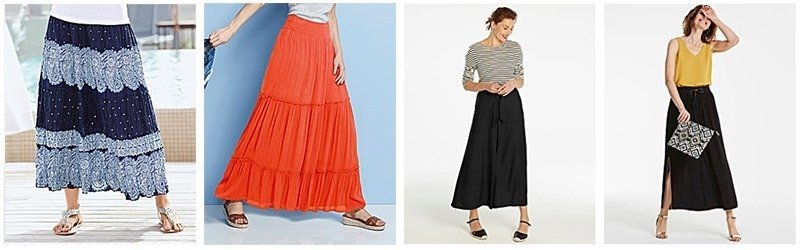 Maxi skirts are great to pack because they can be mixed and matched
