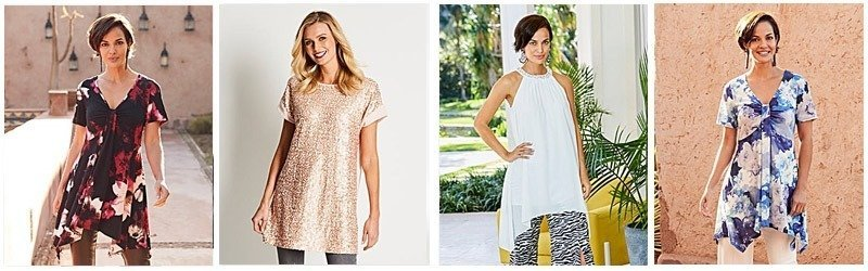 A long loose blouse can go from day to evening wear easily
