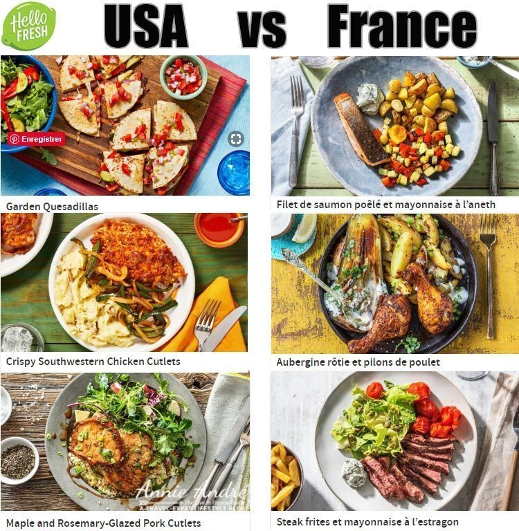 HelloFresh France recipes are not the same as Hello Fresh USA. They are localized to local cuisine and local taste.