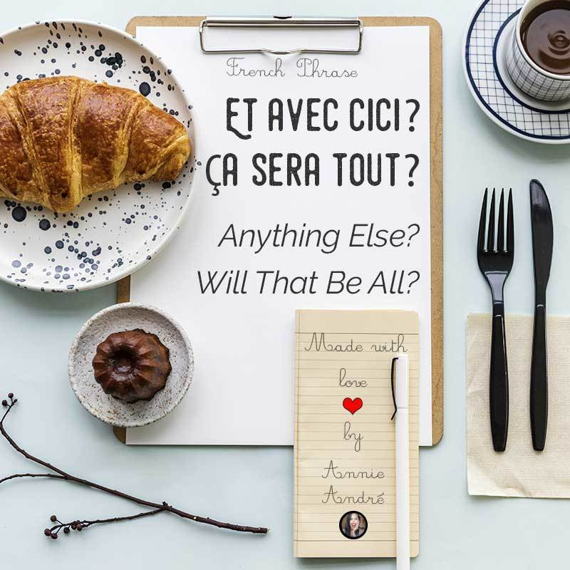 photo of french phrase flat lay