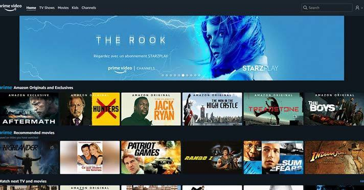 Amazon prime video is an Alternative streaming video sites with apps similar to Netflix