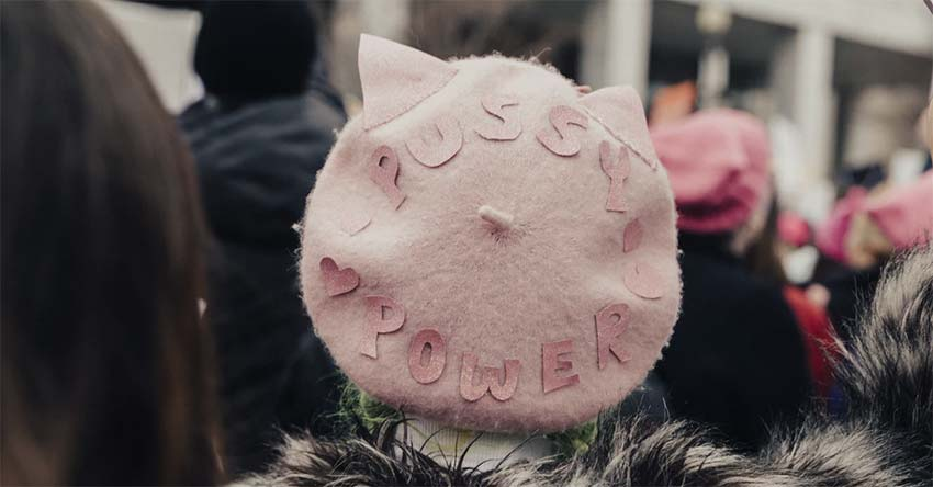 Pink Pussy cat power French beret image